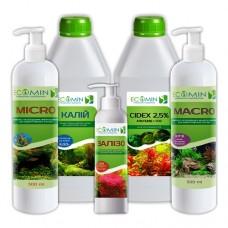 Набор удобрений ECOMIN Оптимальный для аквариумных растений