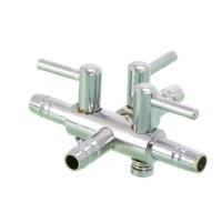 Кран на три выхода металлический SCHEGO 616 для шланга 4/6 мм