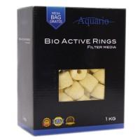 Наполнитель Aquario Bio-Active Rings 1 кг керамические кольца