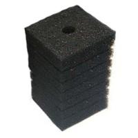 Губка фильтровальная среднепористая 35ppi 10х10х20см Resun прямоугольная