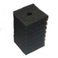 Губка фильтровальная среднепористая 35ppi 8х8х14см Resun прямоугольная