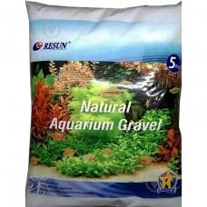Песок кварцевый белый Resun XF 20401C 0.8-1 мм 5 кг для аквариума